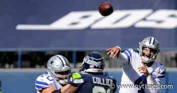 N.F.L. Week 3: Russell Wilson Throws 5 TDs Against Dallas