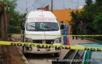 Asesinan a balazos a chofer de urvan en Ometepec - El Sol de Acapulco
