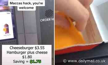 McDonald's customer reveals secret hack to buy a cheeseburger for half the price in Australia
