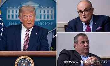 Trump reveals Rudy Giuliani Chris Christie have been playing Joe Biden in White House debate prep