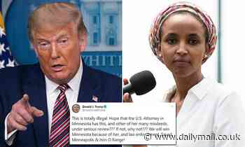 Donald Trump demands US attorneys launch an investigation into Ilhan Omar over 'harvested ballots'