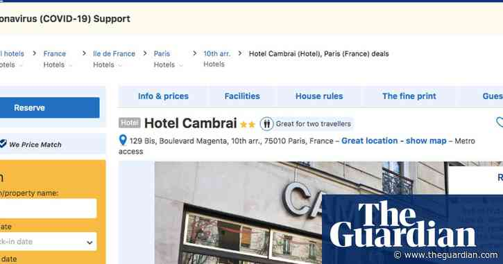 I was booked in at a Paris hotel … that had closed months ago