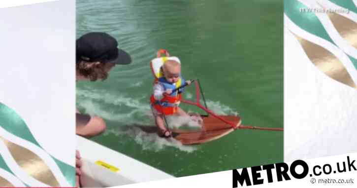 Parents defend teaching six-month-old baby to water ski as divisive video goes viral