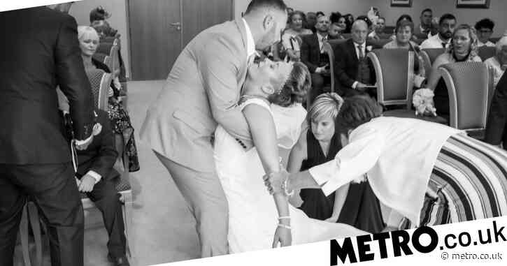 Bride has seizure as she meets her groom at the top of the aisle on their wedding day