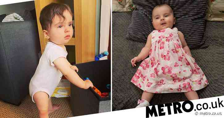 Baby with bones so brittle a sneeze can break her back stands up for the very first time