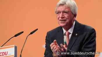 Volker Bouffier an der Spitze der hessischen CDU bestätigt - Süddeutsche Zeitung
