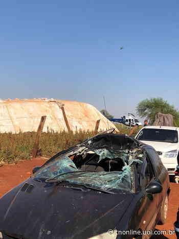 Helicóptero transporta vítima de acidente entre carro e máquina agrícola em Astorga - TNOnline - TNOnline