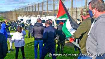 Saoradh Derry chairman Jude McCrory appears in court following Maghaberry protest