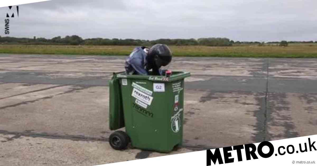 Engineer creates world's fastest wheelie bin after reaching speeds of over 40mph