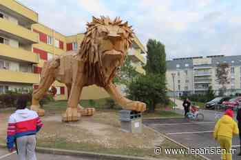 «C'est notre oeuvre» : à Saint-Michel-sur-Orge, le lion géant fait la fierté des Genêts - Le Parisien