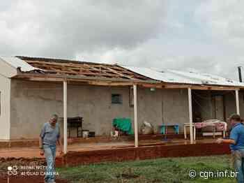 Residência em Rio do Salto tem telhado arrancado pelo vento - CGN