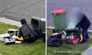 Neighbourhood feud erupts over 'bin divers' who tip bins in search for 10c refundable bottles