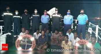 Cargo ship sinks off Okha coast, 12 rescued - Times of India