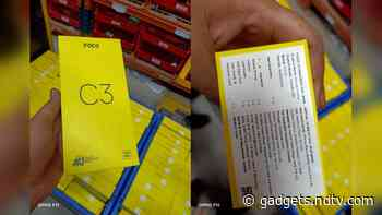 Poco C3 Price in India Allegedly Tipped via Leaked Retail Box Images
