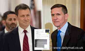 Peter Strzok says notes made public by defense attorneys for Michael Flynn have been 'doctored'
