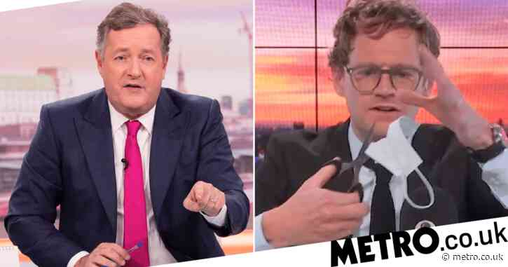 'People may die because he did that': Piers Morgan hits out at 'reckless' talkRADIO host Mark Dolan for cutting up face mask