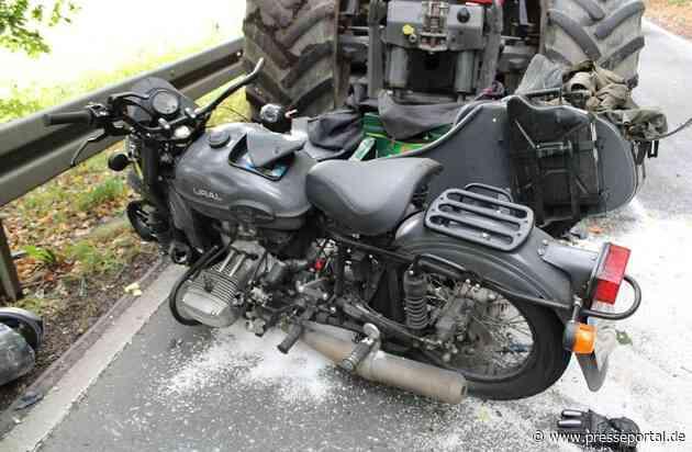 POL-RBK: Kürten - Motorrad mit Beiwagen kollidiert frontal mit einer Zugmaschine