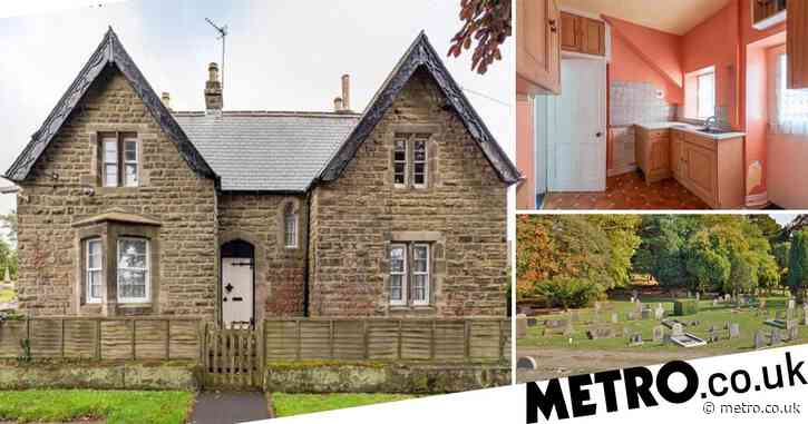 Three-bedroom house next to a graveyard goes on sale with a free burial plot to sweeten the deal