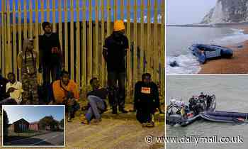 Dozens of migrants arrive in Dover by dinghy after making Channel crossing in the dark