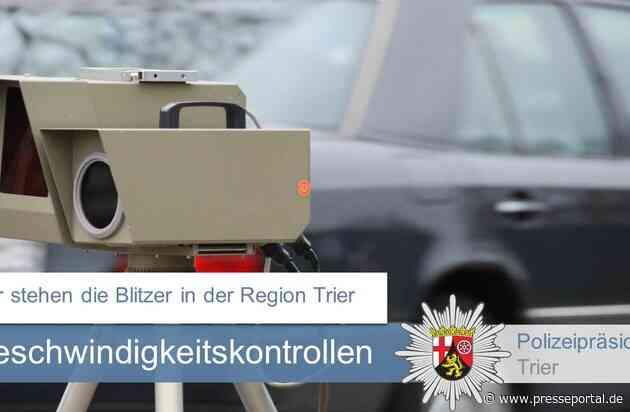 POL-PPTR: Die angekündigten Geschwindigkeitsmessungen im Polizeipräsidium Trier in der 41. Kalenderwoche