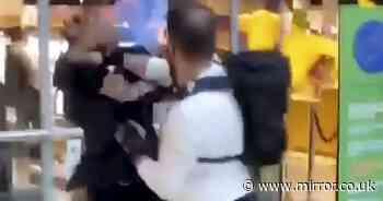 Brawl erupts outside Selfridges as police probe 'assault on security guard'