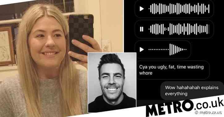Vile fatphobic messages left on student's phone after she rejected him on Tinder