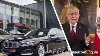 Staatskarosse gefällig? BMW 7er des österreichischen Präsidenten beim Autohändler