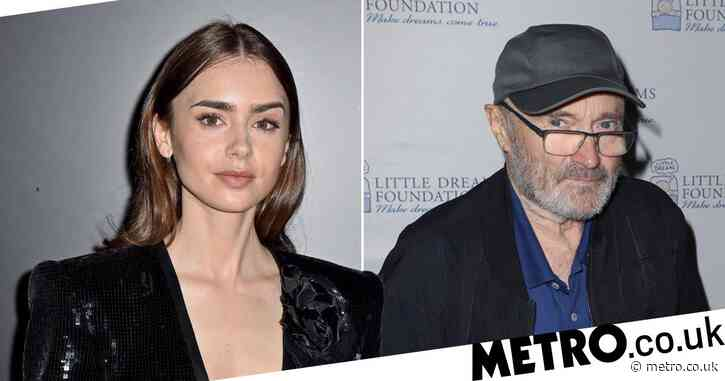 Lily Collins first realised dad Phil Collins was famous when she saw his face on a fan's T-shirt