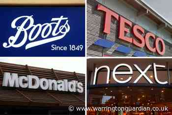 Boots, Tesco, Lidl, Next, McDonald's and Domino's Pizza are hiring staff right now
