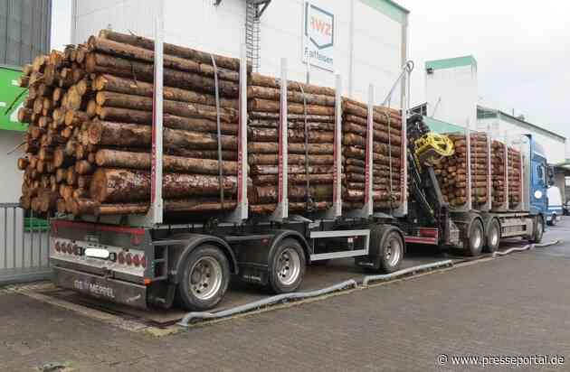 POL-PPTR: Polizei beanstandet eine Vielzahl von Lkw in den letzten zwei Tagen - dabei ein völlig überladener Holztransport