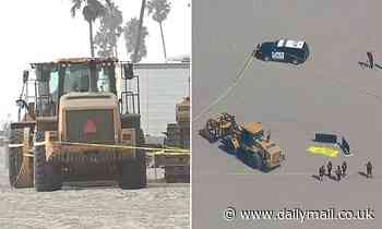 Woman is crushed to death by a tractor while laying on a beach in California
