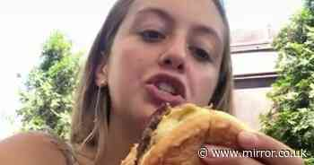 Foodie goes viral with 'greatest life hack' method of eating burger and chips
