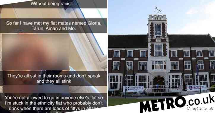 Student sent racist Snapchat saying he was stuck in 'an ethnicity flat'