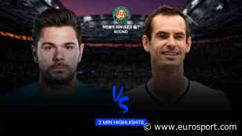 Highlights: Stanislas Wawrinka storms past deflated Andy Murray in first round - Eurosport - INTERNATIONAL (EN)