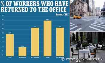 Coronavirus US: Just 10% of 2m workers return to Manhattan offices