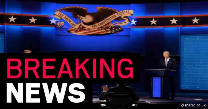 Donald Trump and Joe Biden exchange warm greeting – then start arguing at presidential debate