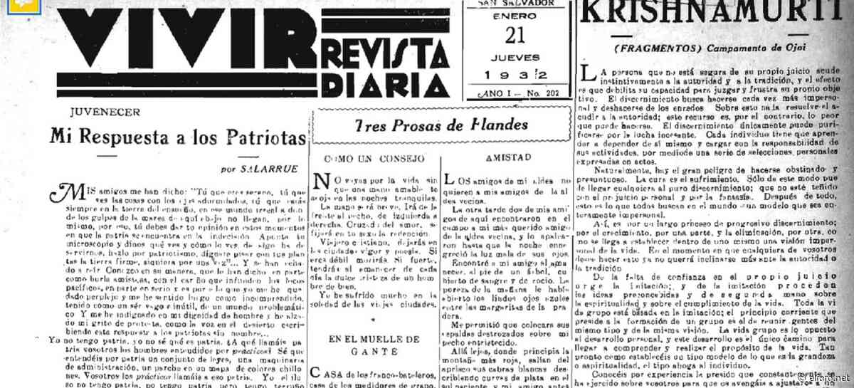 """""""Mi respuesta a los patriotas"""" y las equivocadas intenciones que se le acreditan - El Faro (El Salvador)"""