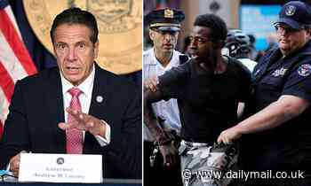 'Why don't NYPD wear masks - what signal does that send?' Cuomo questions why cops don't cover faces