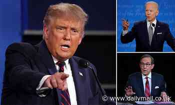 Donald Trump and Joe Biden shout over each other and insult each other at first Presidential debate