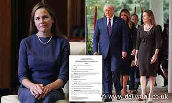 Amy Coney Barrett's 65-page response to Judiciary Committee questionnaire released
