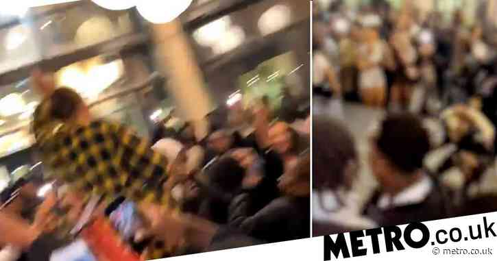 Hundreds of students cram into halls for illegal rave as cases soar