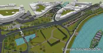 Grijze parking maakt plaats voor park met waterpartij en nieuwe fietsbrug<BR />