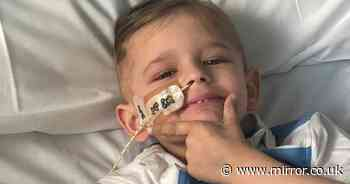 Mum's agony as son, 5, dies in her arms after 'medics said brain cancer was flu'
