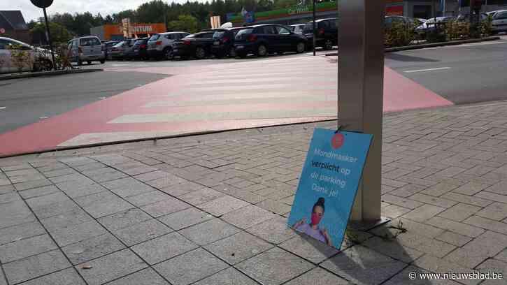 Mondmaskers ook verplicht op de parking Waasland Shopping
