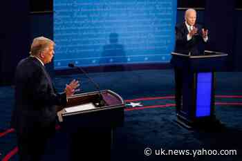 Presidential debate - live: Biden posts video of Trump as crying baby after erratic performance
