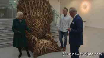 Duke and Duchess of Cornwall visit Ulster Museum