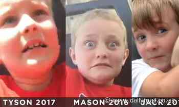 Father three sons' hilarious reactions to their first time on the 50mph 'Viper' amusement park ride