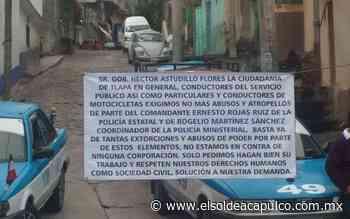 Concesionarios del transporte público protestan en Tlapa de Comonfort - El Sol de Acapulco