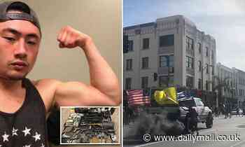 Man who drove into a crowd of BLM protesters was collecting guns for civil unrest