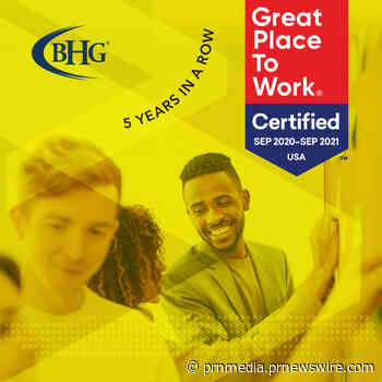 Bankers Healthcare Group Certified as a Great Place to Work for 5th Consecutive Year